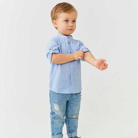 Рубашка Baby Go голубая