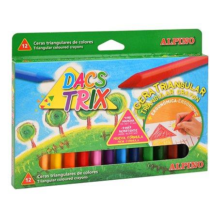 Карандаши восковые ALPINO Dacstrix трехгранные 12цветов DA000125