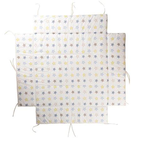 Мягкий бампер для манежа Geuther Lucilee Серый со звездами
