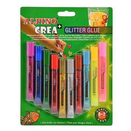 Карандаши гелевые ALPINO Crea Classic Neon 10цветов DE000030