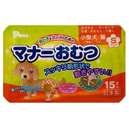 Подгузники для собак P.One S 15шт