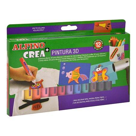 Карандаши 3D ALPINO Crea гелевые 12цветов DH000005