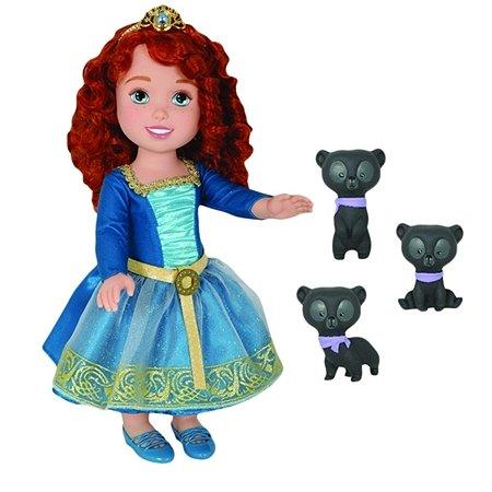 Набор с куклой Jakks Tollytots Disney Принцесса - Малышка Мерида и 3 медвежонка/колчан и лук в ассортименте