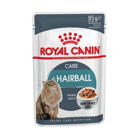 Корм влажный для кошек ROYAL CANIN Hairball Care 85г соус в целях профилактики образования волосяных комочков в желудочно-кишечном тракте пауч