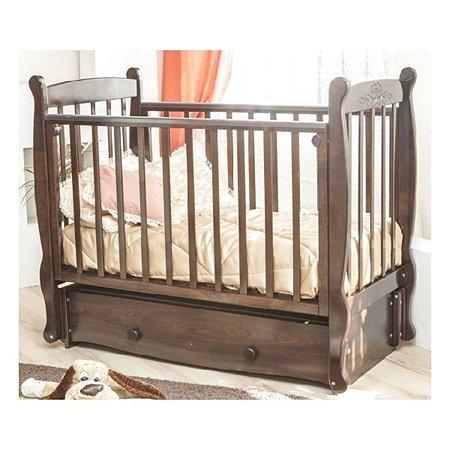 Кровать детская Красная Звезда (Можга) Елисей шоколад Птички