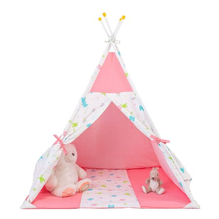Палатка-вигвам Polini kids Монстрики Розовая
