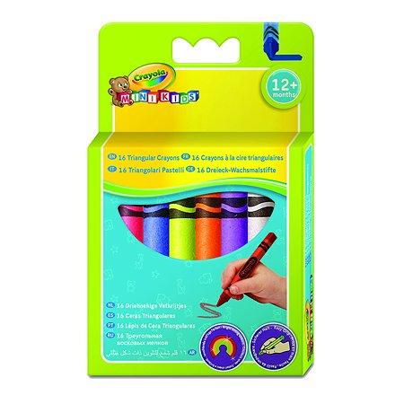 Мелки восковые Crayola смываемые, треугольные 16 шт