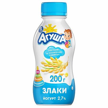 Йогурт Агуша питьевой злаки 0.2л с 8месяцев