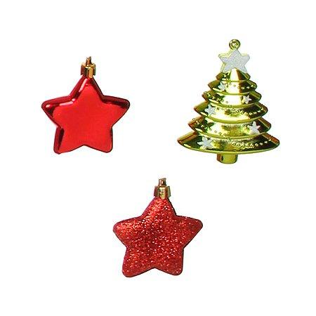 Набор елочных украшений House of Seasons звезда и ель 3шт 1036787