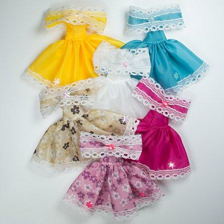 Одежда для кукол Модница Маленькое платье из шелка для куклы 29 см в ассортименте