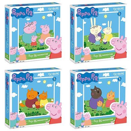 Пазлы ORIGAMI Peppa Pig 16 элементов в ассортименте