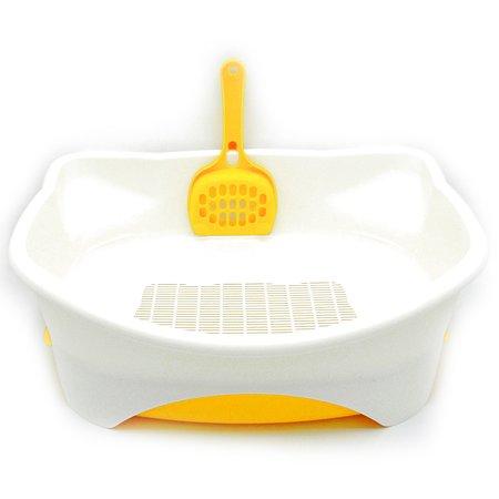 Туалет для котят Unicharm открытый с лопаткой наполнителем подстилкой 4520699612620