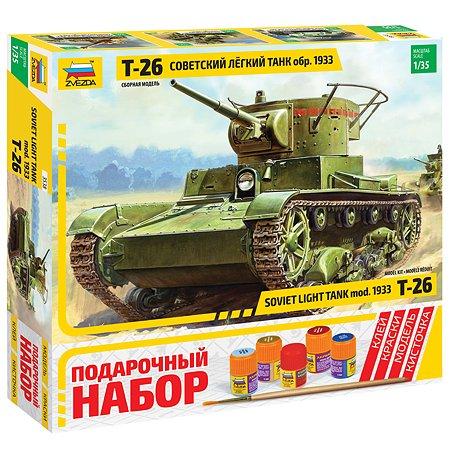 Модель сборная Звезда Советский танк Т 26