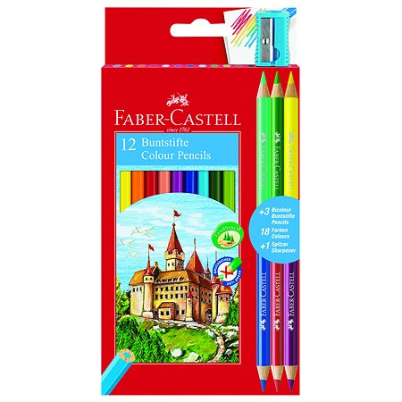 Карандаши цветные Faber Castell Замок 12шт