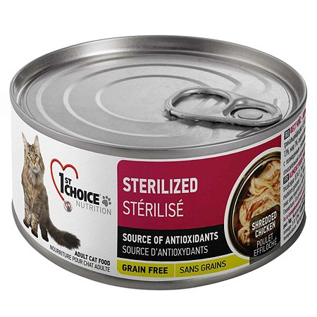 Корм для кошек 1st Choice Sterilized курица с сардиной консервированный 85г