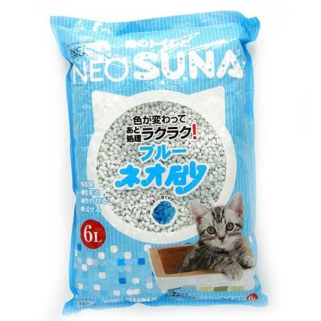 Наполнитель для кошек Kocho Neo Suna комкующийся бумажный с голубым индикатором 6л