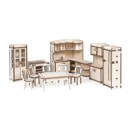 Мебель для куклы Lemmo Кухня для домика Венеция 103элемента 00-67
