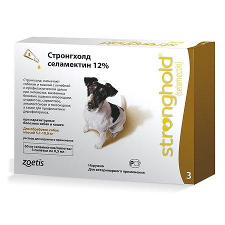 Препарат инсектоакарицидный для собак Zoetis Стронгхолд 60мг 12% 0.5мл №3 пипетка
