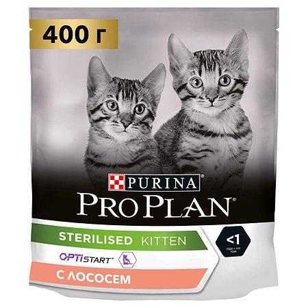 Корм для котят PROPLAN стерилизованных лосось 400г