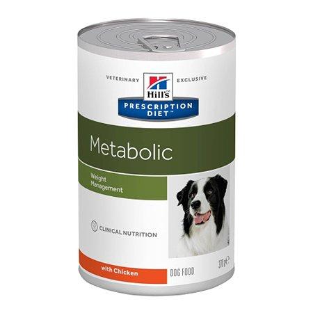 Корм для собак HILLS Prescription Diet Metabolic Weight Management для оптимального веса с курицей консервированный 370г