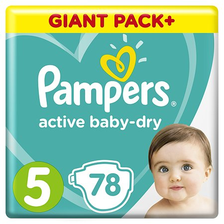 Подгузники Pampers Active Baby-Dry 5 11-16кг 78шт