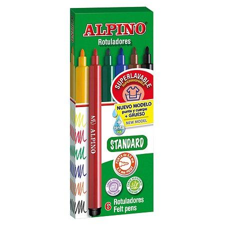 Фломастеры ALPINO STANDARD 6 цв.