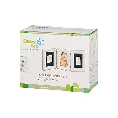 Рамочка BabyArt тройная (белая)