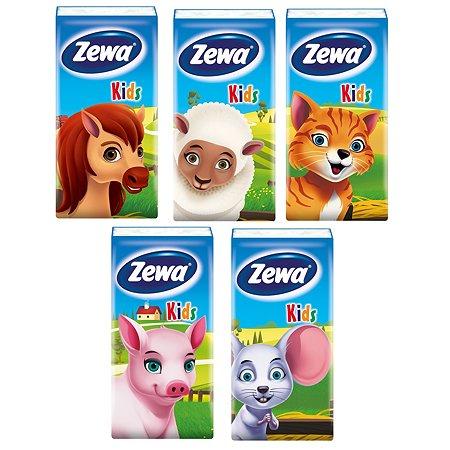 Платки носовые Zewa Kids 3 слоя 10шт в ассортименте 51122