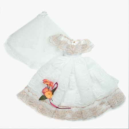 Одежда для кукол Модница Свадебное платье из шелка с фатой для куклы 29 см в ассортименте