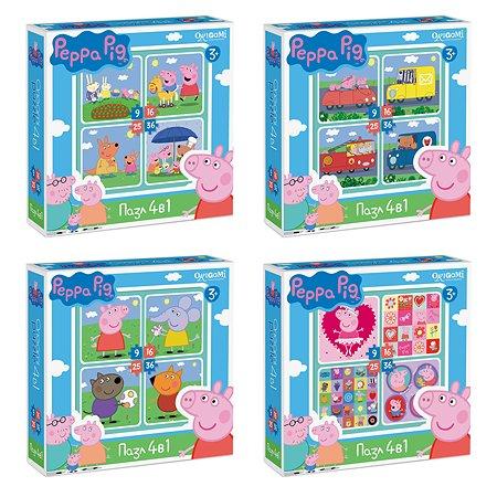 Пазлы ORIGAMI Peppa Pig 9-16-25-36 в ассортименте