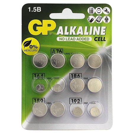 Батарейки GP алкалиновые дисковые ACM01 (V 1,5) 12 шт