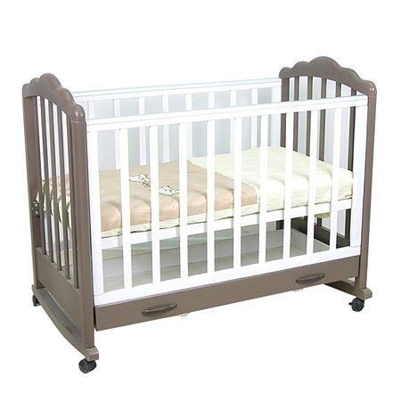 Кровать детская Фея 621 цвет белый+шоколад