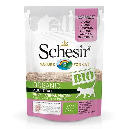 Корм для кошек Schesir со свининой 85г