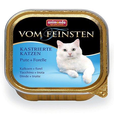 Корм влажный для кошек ANIMONDA Vom Feinsten 100г с индейкой и форелью для кастрированных пауч