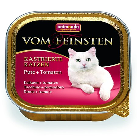 Корм влажный для кошек ANIMONDA Vom Feinsten 100г с индейкой и томатами для кастрированных пауч