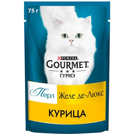 Корм для кошек Gourmet Gold Perle Желе де-люкс курица 75г