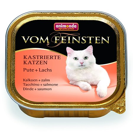 Корм влажный для кошек ANIMONDA Vom Feinsten 100г с индейкой и лососем для кастрированных пауч