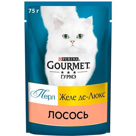 Корм для кошек Gourmet Gold Perle Желе де-люкс лосось 75г
