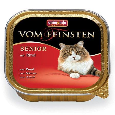 Корм влажный для кошек ANIMONDA Vom Feinsten Senior 100г с говядиной для пожилых пауч