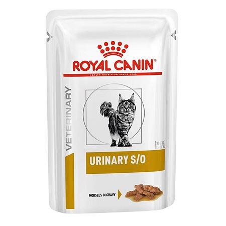 Корм для кошек ROYAL CANIN Veterinary Diet Urinary S/O Лечение и профилактика МКБ кусочки в соусе 85г