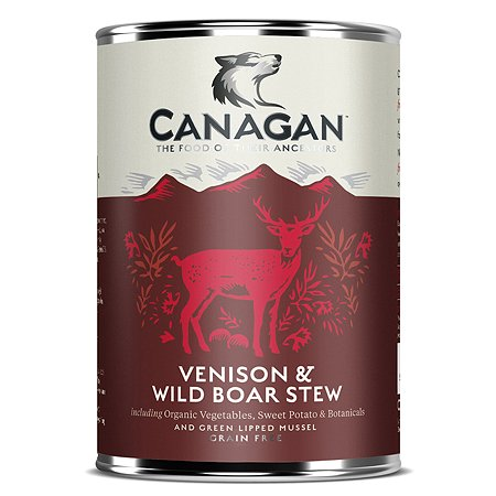 Корм для собак Canagan Рагу из оленины и дикого кабана консервированный 400г