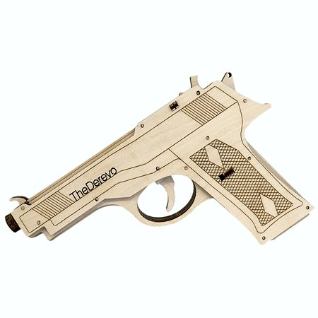 Конструктор TheDerevo Пистолет Beretta 10005