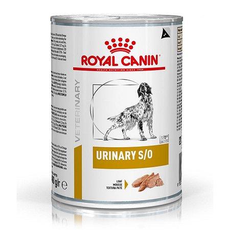 Корм для собак ROYAL CANIN Veterinary Diet Urinary S/O LP 18 при заболеваниях дистального отдела мочевыделительной системы консервированный 0.41кг
