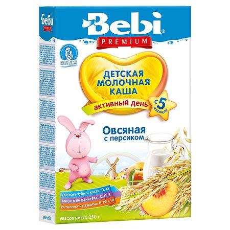 Каша Bebi Premiumмолочная овсяная с персиком 250г с 5месяцев