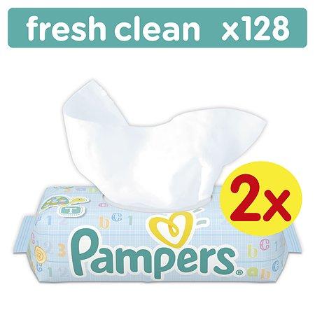 Салфетки Pampers Baby Fresh Clean, влажные сменный блок 128 шт.