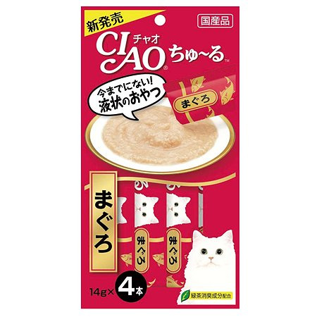 Лакомство для кошек INABA Ciao желтоперый тунец соус 56г