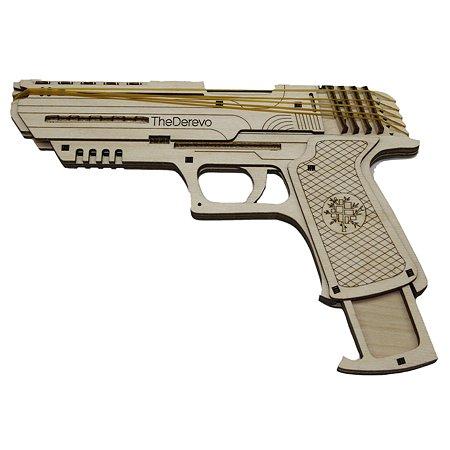Конструктор TheDerevo Пистолет Wolf 10007