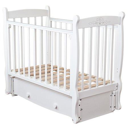 Кровать детская Красная Звезда (Можга) Елисей белый резьба №10