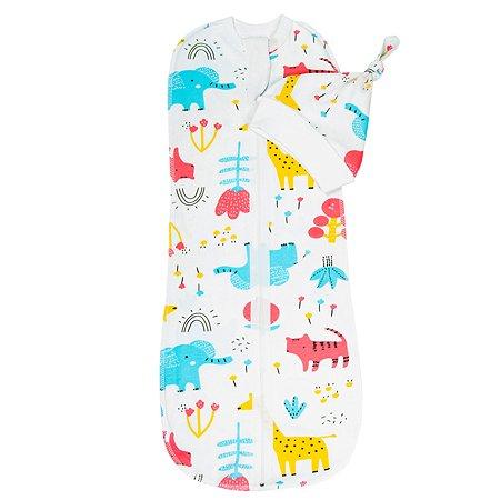 Пеленка-кокон AMARO BABY Soft Hugs Зоопарк AMARO-5701SH2-Zo
