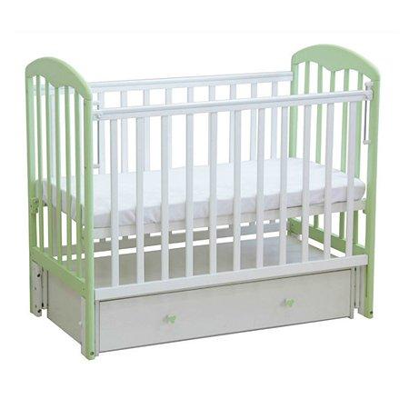 Кровать Фея 328 белый-мята